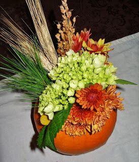 Vaza decorativa din dovleac