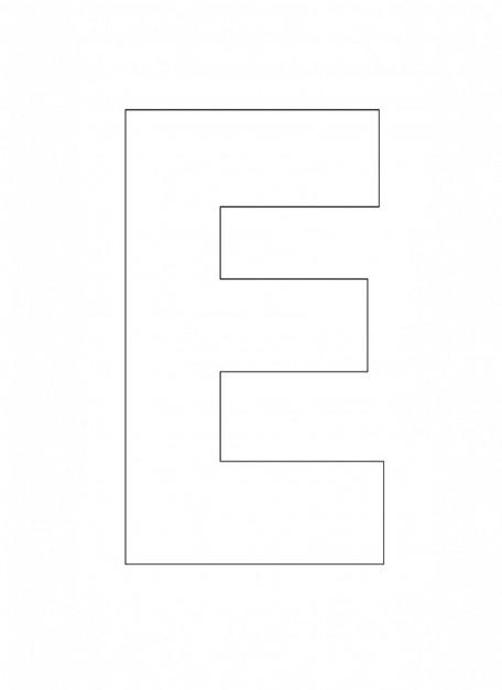 alphabet letter e template for kids 456 627. Black Bedroom Furniture Sets. Home Design Ideas
