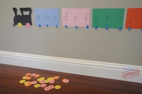 alphabet train matching activity